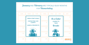 January And February Are Typically Busy Months For Telemarketing!